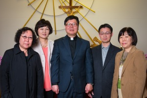 Sam and Julie Choi with members of the Korean Lutheran Church