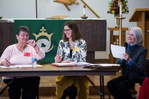 Guild Executive: Judy Zastrow, Nancy Bryans, Bonnie Stephenson