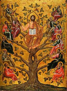 Christ the True Vine icon (Athens, 16th century)