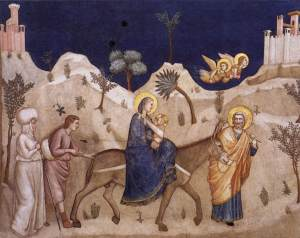 Flight into Egypt - Giotto