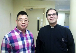 Vicar Milton Lam meets supervisor Rev. Alex Klages (CLTS alumnus 2003)