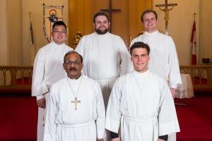 Front (l to r): Joseph Sing, James Preus; Back (l to r): Milton Lam, Andrew Preus, Paul Schulz; Absent: Jeff Swords