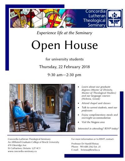 Open Day flyer 2018 - University