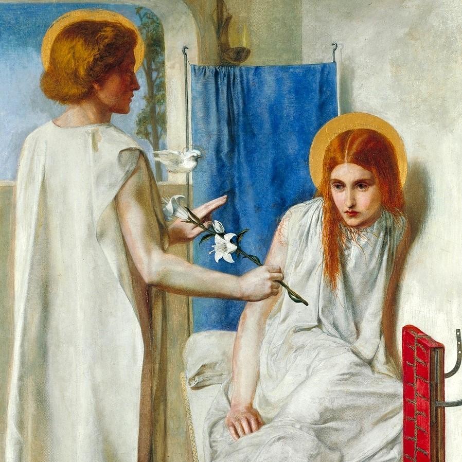 1849-1850_Благовещение (Ecce Ancilla Domini - Ancilla Domini! (The Annunciation)_73.7 х 41.9_х.,м._Лондон, музей Тейт