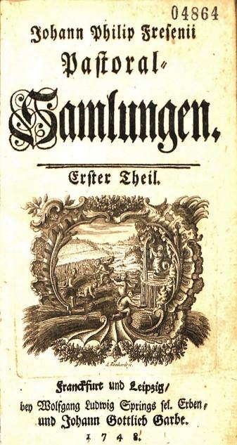 Johann Philipp Fresenius, Pastoral-Samlungen, BV 4009 .F74 1748 v.1