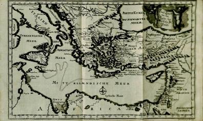 Map Foldout from Starke's Synopsis bibliothecae exegeticae in Novum Testamentum, BS 2344 .S74 1735 Vol.2,