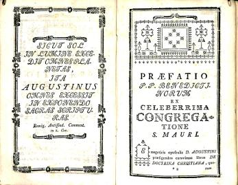 Saint Augustine, Prefatio, Sancti Aurelii Doctrina Christiana, BR 65 .A655 1781