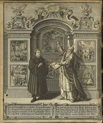 Luther with Moses from Johann Walch, Luther's Werke, BR 330 .E5 Vol.1 1739