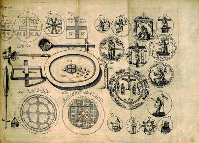 Caspar Calvor, Ritualis Ecclesiastici pars prior Origines, BX 8067 .C169 1705, bifolium, page 595