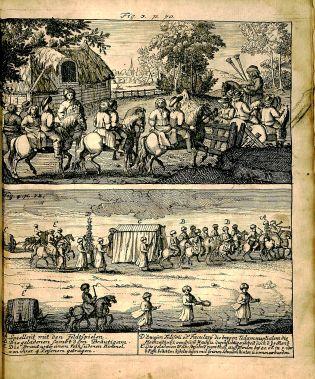 Caspar Calvor, Ritualis Ecclesiastici pars prior Origines, BX 8067 .C169 1705, figure 3, page 70