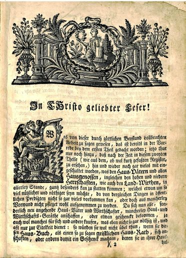 Carl Heinrich von Bogatsky, Tagliches Haus-Buch d… Kinder Gottes, BV 4834 .B62,1749, page 2