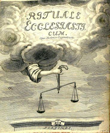 Caspar Calvor, frontispiece, Ritualis Ecclesiastici pars prior Origines, BX 8067 .C169 1705