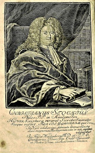 Frontispiece engraving by Johann Christoph Sysang, from Christian Stock's Clavis Linguae Sancta, PJ 4831 .S7 1753