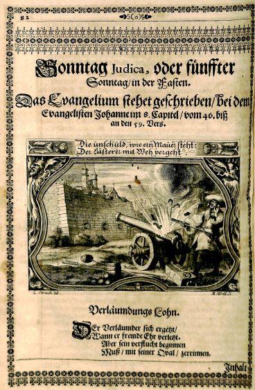 Engraving by Melchior Küsel and Georg Strauch, from Johann Dilherr's Augen-und-Herzens-Lust, 1661.