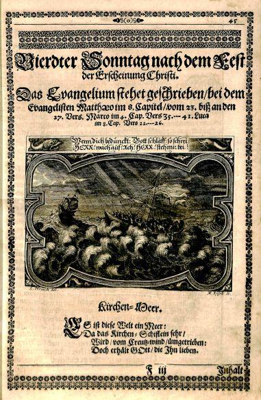 Engraving by Georg Strauch and Melchior Küsel, from Johann Dilherr's Augen-und Herzens-Lust, BV 4834 .D576, 1661
